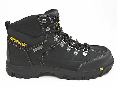 Caterpillar Threshold P90936 Black Leather Waterproof Steel Toe Work Boot