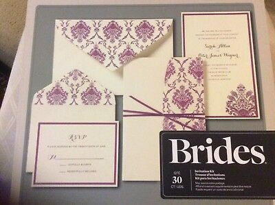 BRIDES®  Pocket Wedding Invitation Kit, Set of 30 Printable Invitations  - Pocket Wedding Invitation Kits