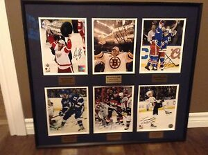 6 Framed Newfoundland NHL Autographed 8x10 Photos
