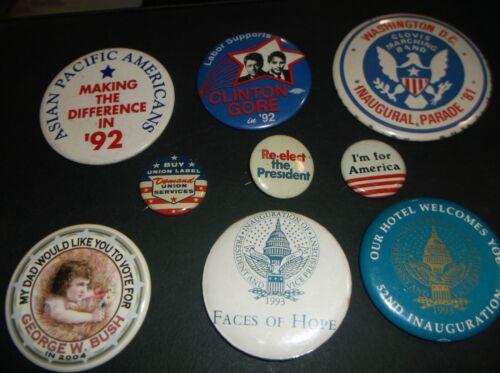 ORIGINAL MIX LOT OF POLITICAL  BOTTONS / PINS  LOT OF 9