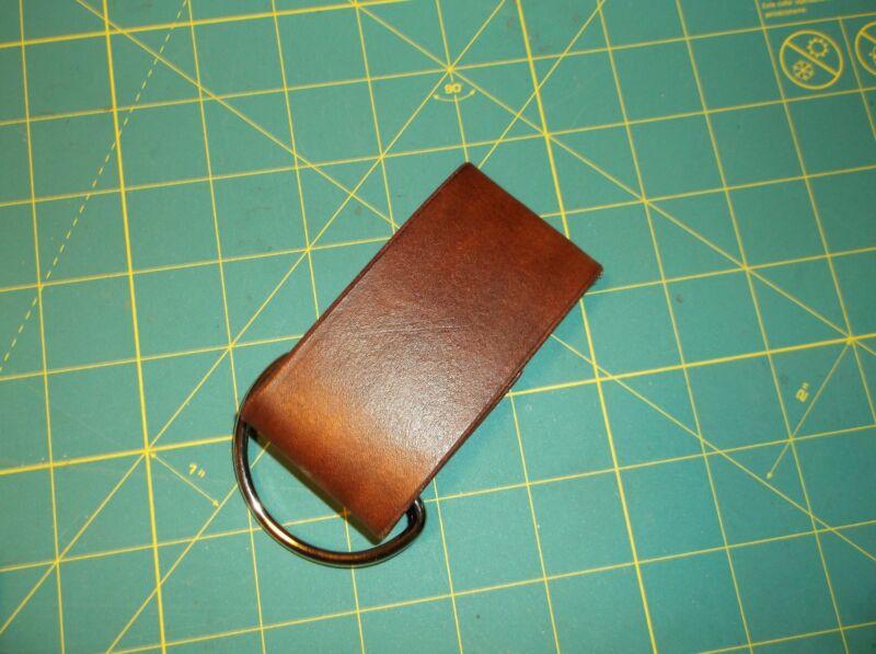 Leather Key Fob Belt Loop Holder Screw Shackle/_Knife Sheath Dangler/_FREE SHIP
