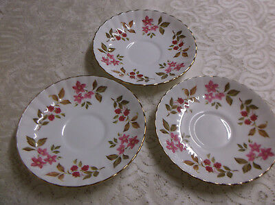 "3 Royal Stafford ""Fragrance"" saucers - Porcelain / china -  Made in England"