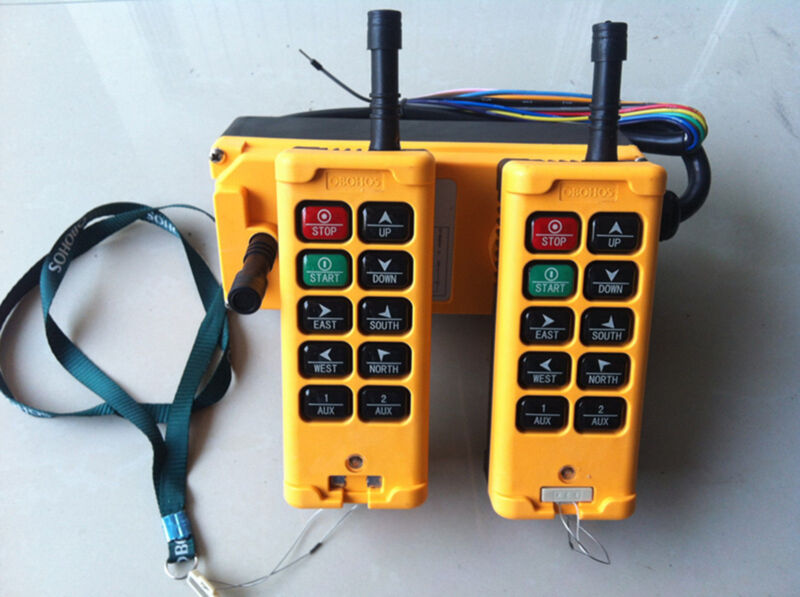 12-415V 2 Transmitter 10 Channels Industrial Wireless Crane Hoist Remote Control
