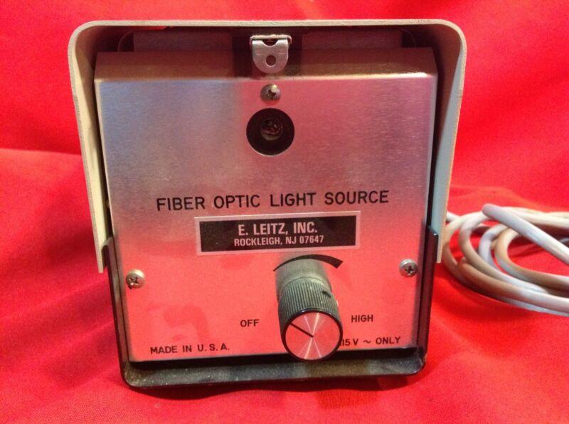 Fiber Optic Light Source E. Leitz, INC. 175W 115V ~ only
