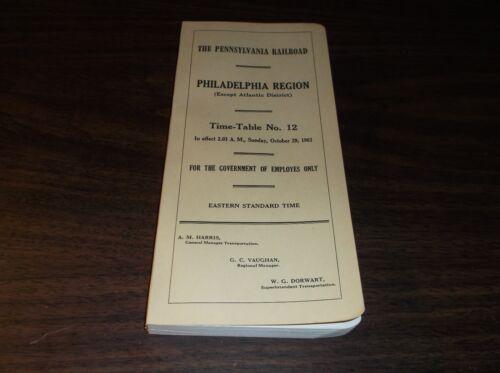 OCTOBER 1961 PENNSYLVANIA RAILROAD PRR PHILADELPHIA REGION EMPLOYEE TIMETABLE #2