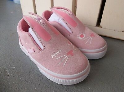NWT VANS GIRLS TODDLER SLIP ON BUNNY SNEAKERS/SHOES.SIZE 5.BRAND NEW FOR - Vans For Toddler Girls