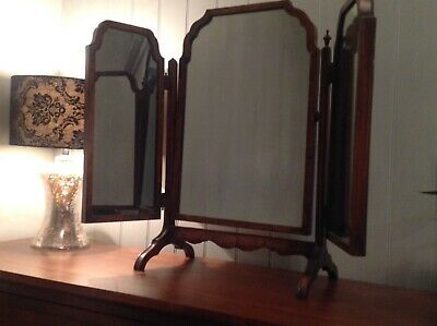 Antique Triple Dressing Table Mirror