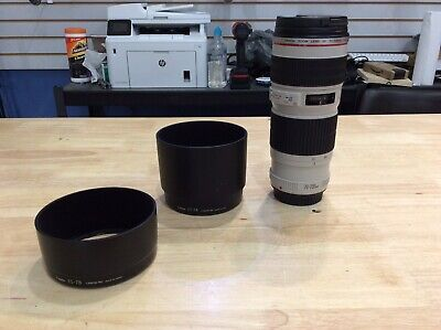 Canon EF 70-200mm F/4 L  Lens With Canon ES-78 & Canon ET-74