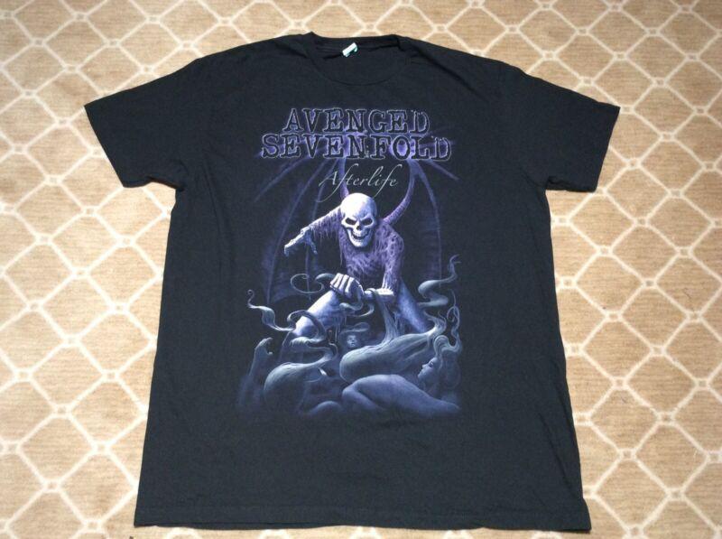Avenged Sevenfold Afterlife Short Sleeve T-Shirt Size Extra Large Pacific Tag