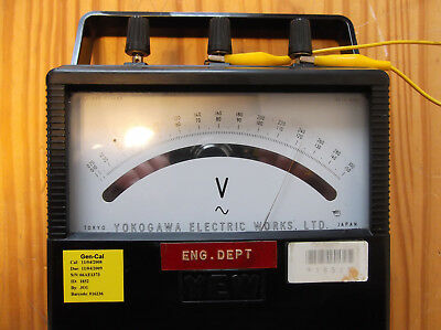 Yokogawa 2013 Ac Voltmeter 150300vac Mirror Scale