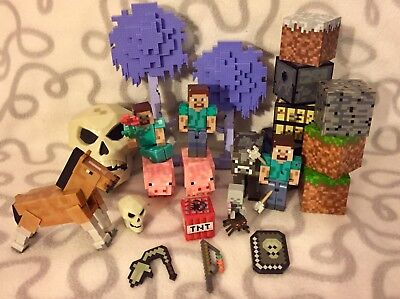 Minecraft mixed lot of figures, blocks, animals, mystery mini, skulls, etc.