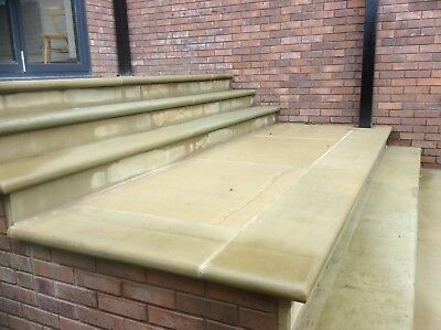 English Sandstone steps with or without bullnose and or swept corners