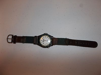 TIMEX EXPEDITION WATCH with POLY/ LEATHER BAND with INDIGLO - Poly Leather Band