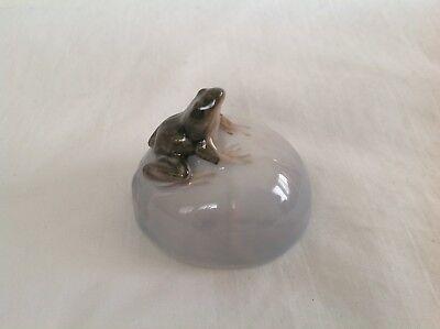 Vintage ROYAL COPENHAGEN DENMARK Figurine Frog On Rock