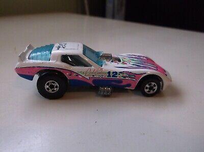 Hot Wheels California Custom Corvette Funny Car Pink & Blue