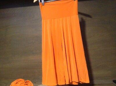 UP USA WOMENS Size SMALL MEDIUM ORANGE Shorts Culottes FOLD OVER Waist NWOT -