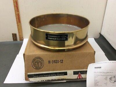 Humbold Brass Sieve New 12 No 14 1400 Microns U.s. Standard Ss Mesh