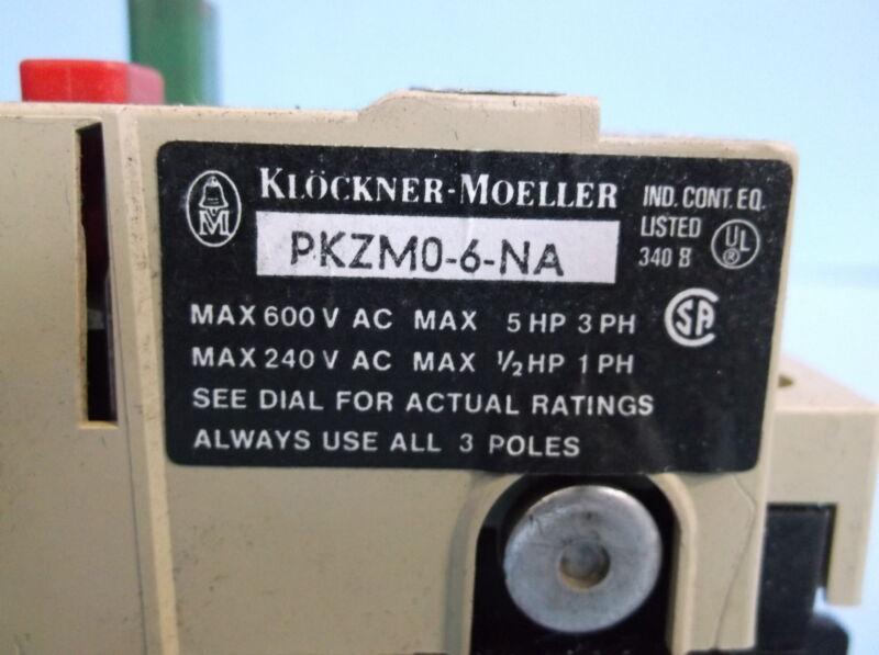 KLOCKNER-MOELLER MOTOR PKZMP-6-NA