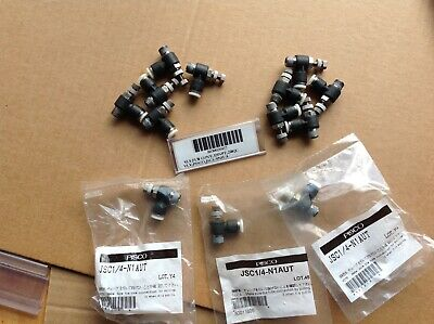 Pisco Jsc14-n1aut Pneumatic Flow Control Elbow 3 New In Bag 10 Opened Bag