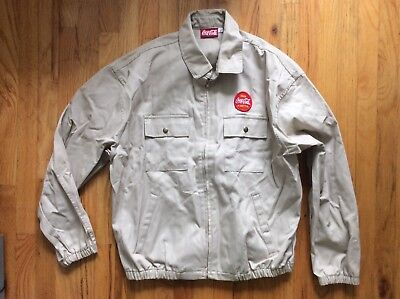Coca-Cola Zip Front Jacket - Men's L