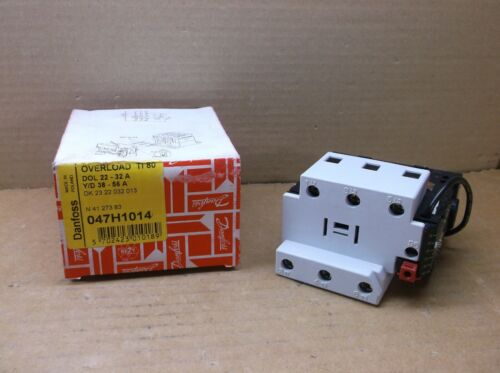 047H1014 Danfoss NEW In Box Contactor Overload Relay Range 22A to 33A