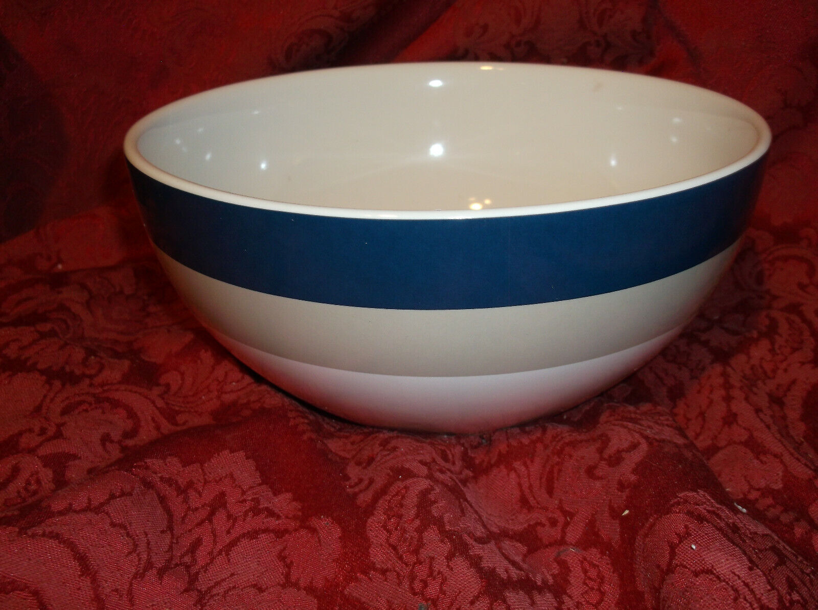 "LENOX KATE SPADE ALL IN GOOD TASTE STRIPE 8"" SERVING BOWL....NEW!"