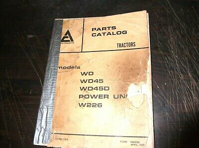 Original Allis-chalmers Wd Wd45 Wd45d Power Unit W226 Tractor Parts Manual