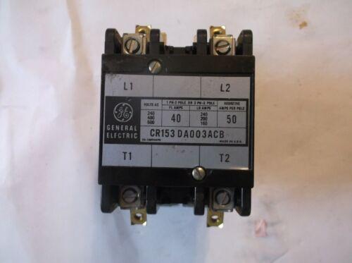 GE CR153DA003ACB GENERAL ELECTRIC CONTACTOR  NEW