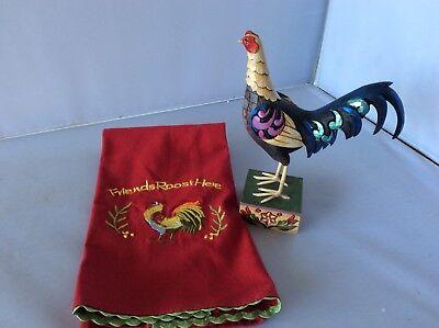 Jim Shore Heartwood Creek Colonial Game Fowl 4021358 Williamsburg And Tea Towel ()