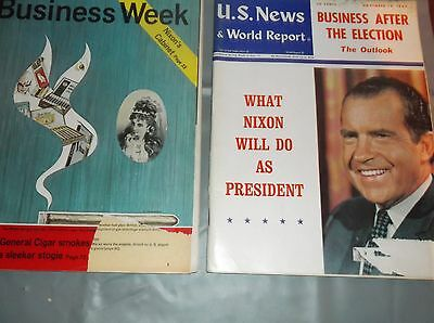 2 Vintage Politics Mags Nixon Business Week Dec14 1968  Us News World Report Nov