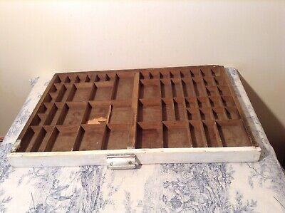 Vintage French Wooden Printers Letterpress Typeface Drawer - Print Tray (4231)