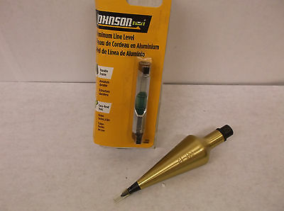 New CST/Berger 11-550 12oz. Brass Plumb Bob W/ BONUS Line Level (B8)