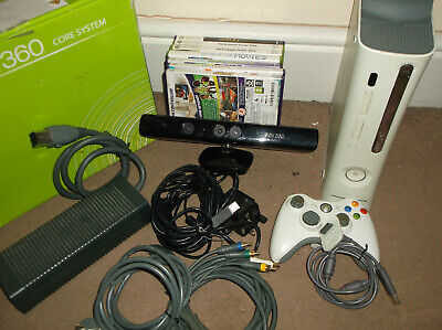 Xbox 360 White Console 120HDD Kinect & Games Bundle Boxed