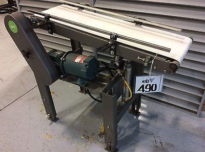 Adjustable Height Inclined Belt Conveyor 12w X 39l Air Height Adjust 13hp Gea