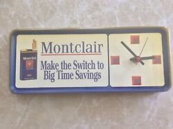 Cigarette Montclair Wall Clock 'Make The Switch To Big Time Savings' Rare.