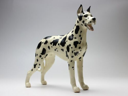 Harlequin Great Dane Porcelain Figurine Ceramic Statue Japan NEW Reproduction