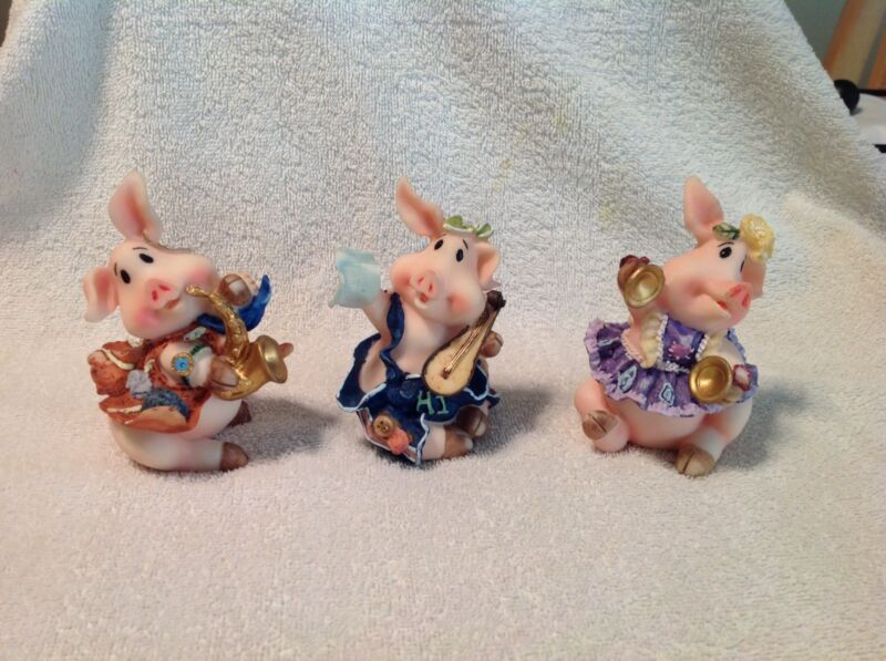 3 Pc. Pig Band Whimsical Figures