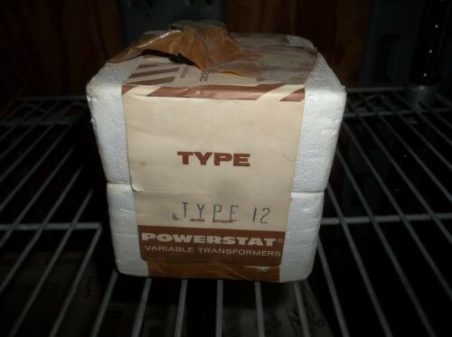 Superior Electric Company Type 12 PowerStat Variable Transformer USA