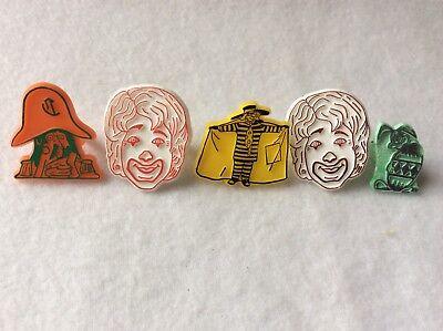 EUC Vintage McDonalds Plastic Rings + Easter Bunny Ronald Hamburglar Captain Cro