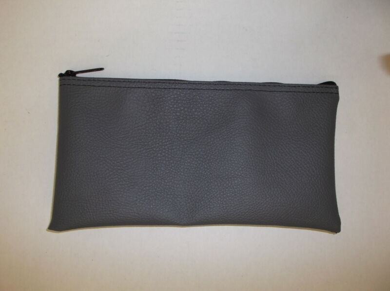 Deposit Bag Bank Pouch Zippered Safe Money Bag Organizer in GRAY made in USA