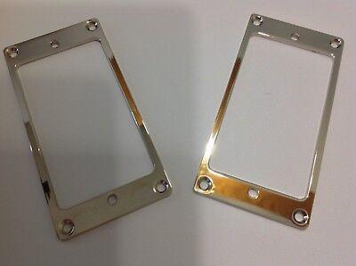 1 Pair Chrome Plated Metal Flat Humbucker Pickup Rings ()