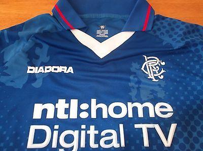 2002-2003 Glasgow Rangers Arveladze No24 Player Issue/Match Prepared Shirt