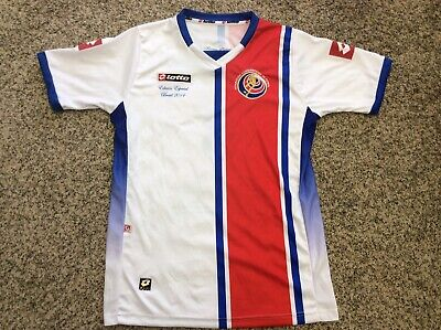 """2014 COSTA RICA #8 World Cup Soccer Jersey """"HICIMOS HISTORIA"""" Brazil, Size Large image"""