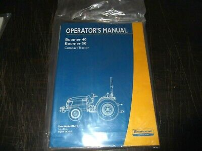 New Holland Boomer 40 Boomer 50 Compact Tractor Operators Manual Nos Sealed
