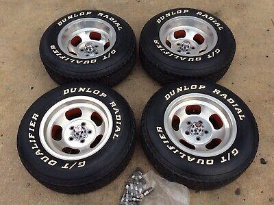 Mint 70's Corvette Ansen Sprint 15x8.5 15x7 Aluminum Slotted Mag Wheels & Tires