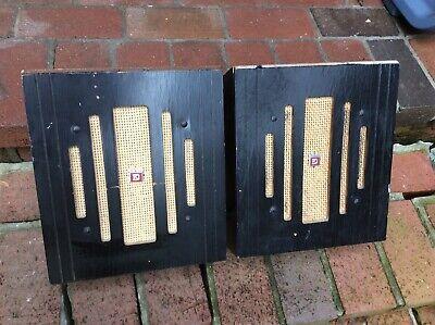 "Vintage Speaker Cabinets - 2 Vintage DuKane Wood Speaker Cabinets W / 8"" Speakers - Very Good"
