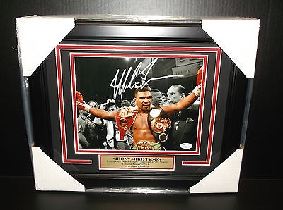 Iron Mike Tyson Authentic Autographed Signed 8X10 Photo Framed Jsa Coa