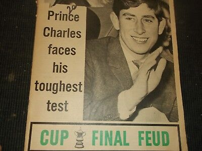 Vintage BRITISH TABLOID (guessing early 70s)PRINCE CHARLES under 21/Royals