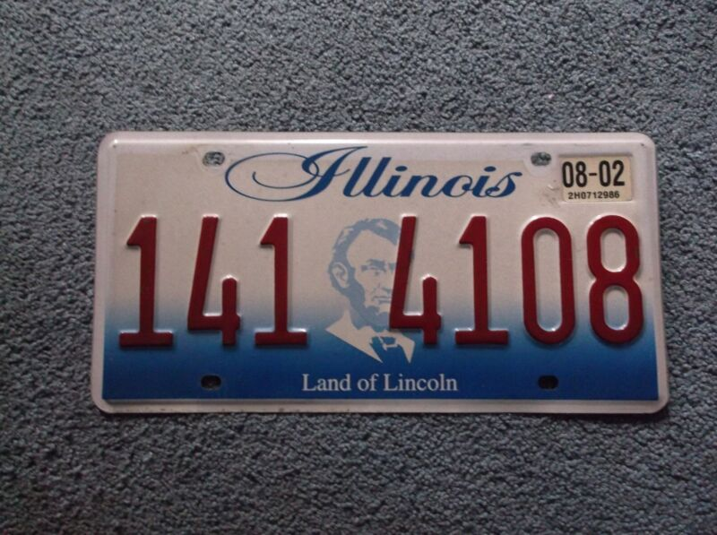 2002 Illinois License Plate