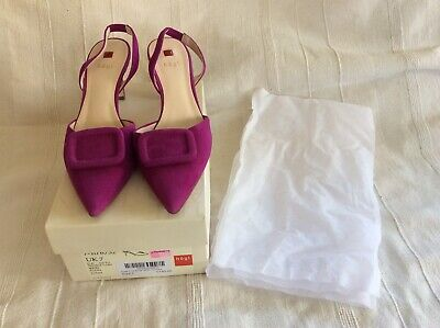 HÖGL SUEDE COURT/SLING BACK SHOES FUCHSIA  7